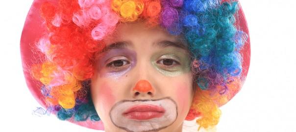 sad, unhappy clown