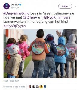 De IND op Twitter- -#Dagvanhetkind Lees in Vreemdelingenvisie hoe we met @DTenV en @RvdK_minvenj samenwerken in het belang van het kind https---t co-2lfq1HJmtN https---t.co-NZinJvKZGQ-